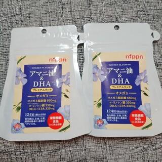 ニッシンセイフン(日清製粉)の【新品】ニップン アマニ油&DHA プレミアムリッチ 2袋(その他)