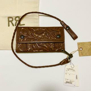 ダブルアールエル(RRL)の【新品】RRL Hand-Tooled Leather Wallet OS(長財布)