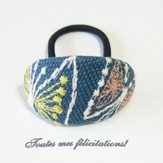 mina perhonen - sky flower ブルー ヘアゴム ミナペルホネン