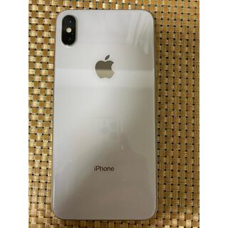 アイフォーン(iPhone)のiPhoneXs Max Silver 256Gb Simフリーバッテリー95%(スマートフォン本体)