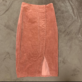 リゼクシー(RESEXXY)の【RESEXXY】 膝丈ベーシックコーデュロイスカート(ひざ丈スカート)