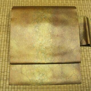 淡黄色に金糸織り 名古屋帯(帯)