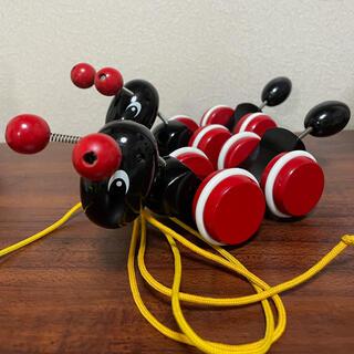 ブリオ(BRIO)のBRIO ブリオ アリさんのひっぱりおもちゃ 2個セット 中古品 卵無し(知育玩具)