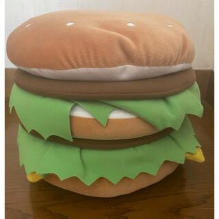 マクドナルド(マクドナルド)の【非売品】マクドナルド ハンバーガー クッション(ぬいぐるみ)