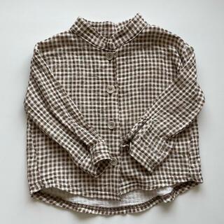 ザラキッズ(ZARA KIDS)のaosta チェックシャツ(ブラウス)