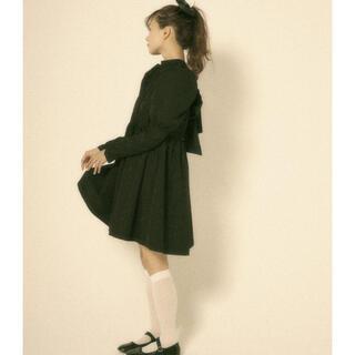 ザラ(ZARA)のFrench girly OP black ♡ miro amurette(ミニワンピース)