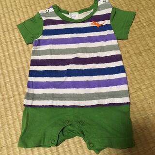 ハッカベビー(hakka baby)のhakka baby 半袖ロンパース  Sサイズ(ロンパース)