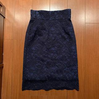 デイシー(deicy)のdeicy レーススカート ネイビー タイトスカート(ひざ丈スカート)