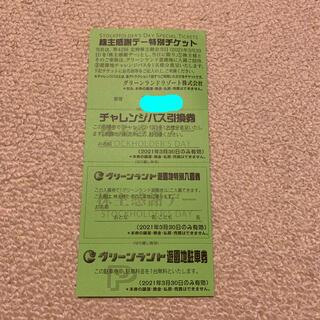 グリーンランド株主優待 感謝デー特別チケット1枚(その他)