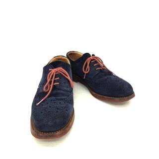 サンダース(SANDERS)のSanders(サンダース) Navy Suede Brogue メンズ 革靴(ドレス/ビジネス)