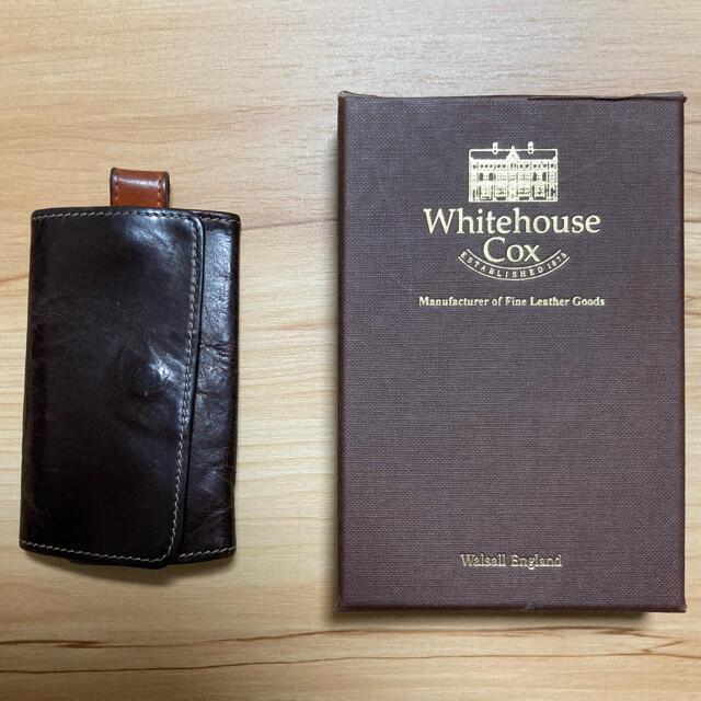 WHITEHOUSE COX(ホワイトハウスコックス)のホワイトハウスコックス ホリデーライン キーケース ハバナ×オレンジ メンズのファッション小物(キーケース)の商品写真