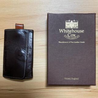 ホワイトハウスコックス(WHITEHOUSE COX)のホワイトハウスコックス ホリデーライン キーケース ハバナ×オレンジ(キーケース)