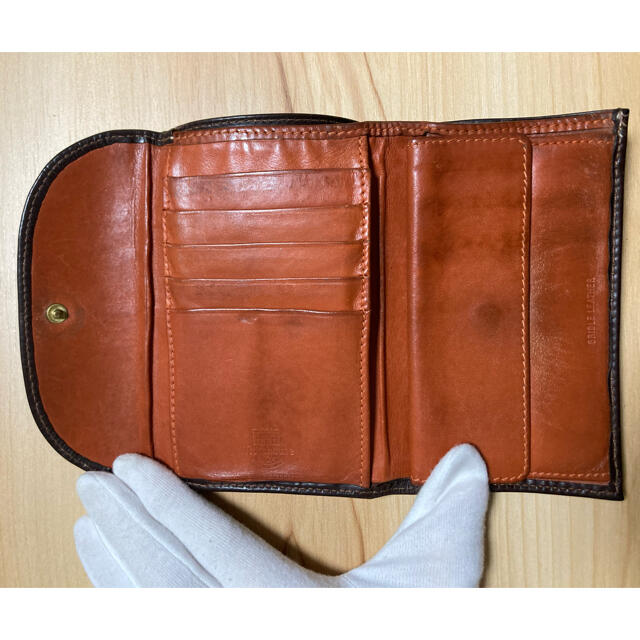 WHITEHOUSE COX(ホワイトハウスコックス)のホワイトハウスコックス ホリデーライン 三つ折り財布 ハバナ×オレンジ メンズのファッション小物(折り財布)の商品写真