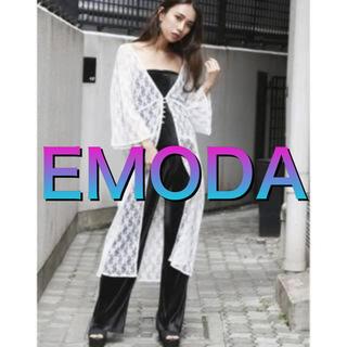 エモダ(EMODA)のEMODA レースロングカーディガン(カーディガン)