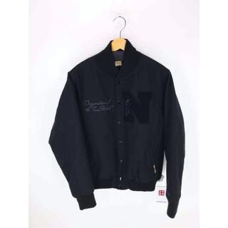 ニューエラー(NEW ERA)のNEW ERA(ニューエラ) ロゴ黒刺繍裏キルティングスタジャンパッチ メンズ(スタジャン)