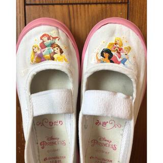 ディズニー(Disney)の上履き 女の子 プリンセス 17cm シューズ 記名なしアリエル ラプンツェル(スクールシューズ/上履き)