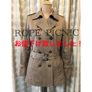 Rope' Picnic - *ロペピクニック トレンチコート 小花柄ライナー付 スプリングコート ベージュ系