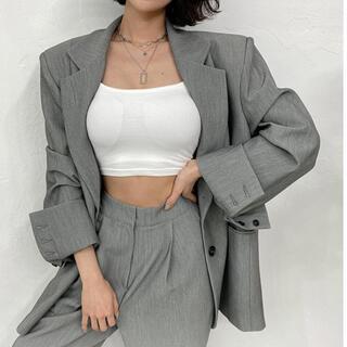 スタイルナンダ(STYLENANDA)の【予約商品】《2カラー》ジャケット単品 オーバーフィット 韓国ファッション 春服(ノーカラージャケット)