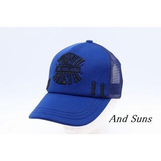 アンドサンズ(ANDSUNS)の【HA-87】And Suns アンドサンズ 刺 キャップ ネイビー(キャップ)