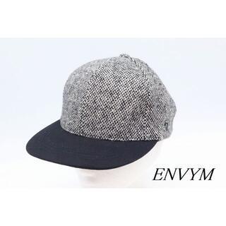 【HA-89】ENVYM アンビー ツイード キャップ ブラック