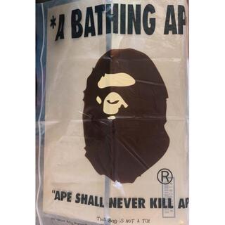 アベイシングエイプ(A BATHING APE)のA BATHING APE ショッパー袋 ビニール袋 エイプ 大きいサイズ(ショップ袋)