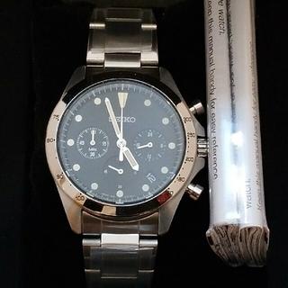 セイコー(SEIKO)のセイコー ナノ・ユニバース クオーツクロノグラフブラック  別注 新品(腕時計(アナログ))