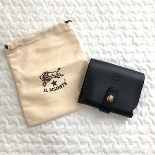 イルビゾンテ(IL BISONTE)の【新品未使用】イルビゾンテ カードケース 黒 ブラック(パスケース/IDカードホルダー)