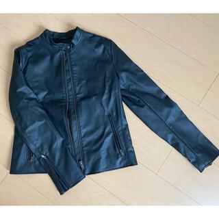 ユニクロ(UNIQLO)のUNIQLO レザージャケット M size(ライダースジャケット)