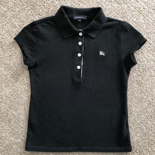 バーバリー(BURBERRY)のバーバリー 140cmガール ポロシャツ黒(Tシャツ/カットソー)