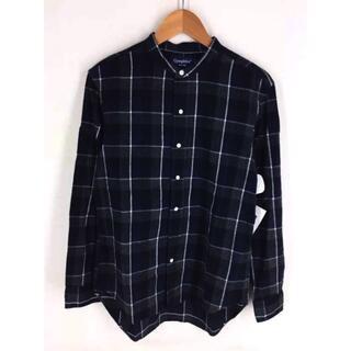 GYMPHLEX - GYMPHLEX(ジムフレックス) バンドカラー 長袖チェックシャツ メンズ
