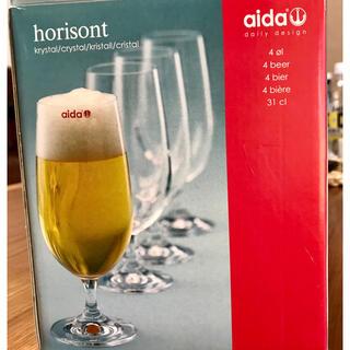 アイーダ(AIDA)のアイーダ社★ボヘミア ビアグラス(グラス/カップ)
