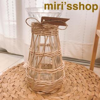 ラタンハンドメイド フラワーベース 花瓶 3番(花瓶)