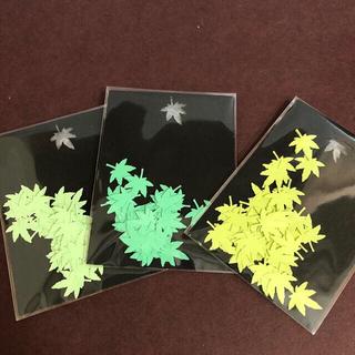 ペーパークラフトもみじの葉っぱ形 パステル系グリーン3色 各30枚(各種パーツ)