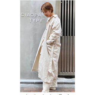 チャオパニックティピー(CIAOPANIC TYPY)のチャオパニック ティピー デニムコート シャツ ホワイト (ロングコート)