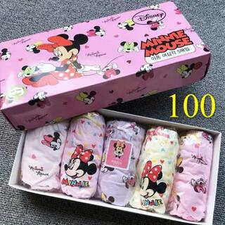 ディズニー(Disney)の100サイズ/新品 ディズニー/ミニ一マウス/女の子/ショーツ/下着 (下着)