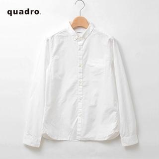 quadro✨クオドロ 高密度ダンプ シャンブレー ちび襟 ボタンダウンシャツ