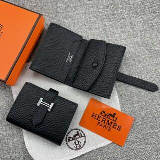 Hermes - 名刺入れ カードケース トゴ牛革 大人気 ミニ折り財布