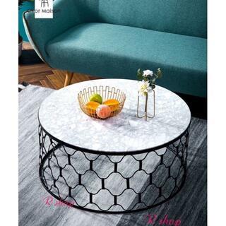 高級大理石ローテーブル センターテーブル テーブル(ローテーブル)