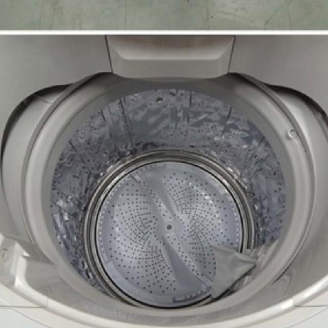 SHARP(シャープ)の洗濯機 ピンク シャープ カビの生えにくい穴無しドラム 8キロ スマホ/家電/カメラの生活家電(洗濯機)の商品写真