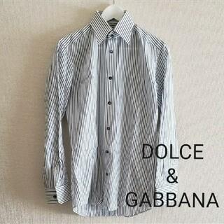 ドルチェアンドガッバーナ(DOLCE&GABBANA)のDOLCE&GABBANAストライプ長袖シャツsize38(シャツ)