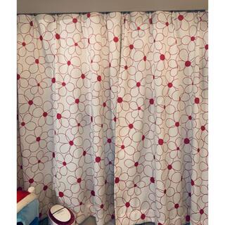 ニッセン(ニッセン)のピンクの花のカーテン2枚セット 遮光カーテン(カーテン)