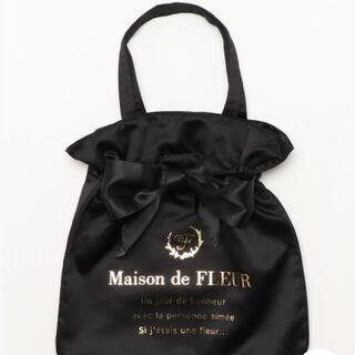 メゾンドフルール(Maison de FLEUR)の♡メゾンドフルール トートバッグ リボン 黒♡(トートバッグ)