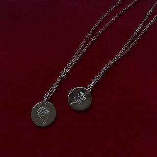 サンタモニカ(Santa Monica)の୨୧ Vintage rétro flower coin necklace(ネックレス)