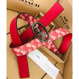 COACH - 値下げ【COACH】コーチ新品正規品レザーベルト 男女兼用リバーシブルベルト
