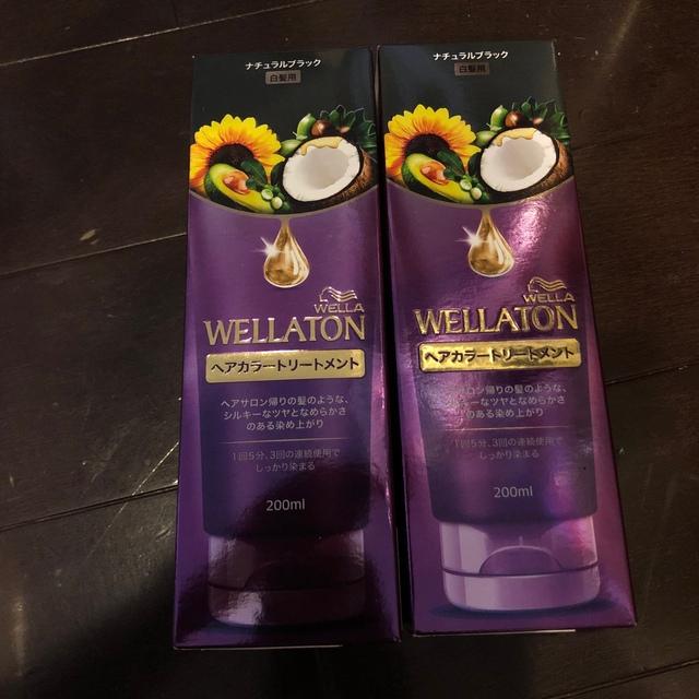 WELLA(ウエラ)のウエラトーン トリートメント ナチュラルブラック 新品2本 コスメ/美容のヘアケア/スタイリング(白髪染め)の商品写真