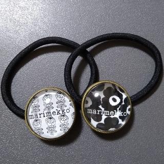 マリメッコ(marimekko)のヘアゴム モノトーン2個セット(ヘアアクセサリー)