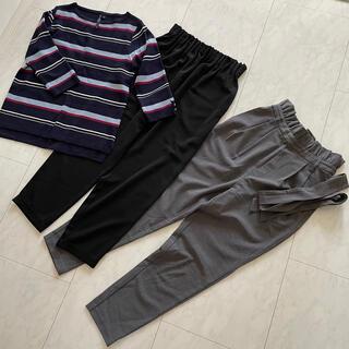 ジーユー(GU)のフォーマル着 3点セット ストレートパンツ テーラードパンツ シガレットパンツ(スーツ)