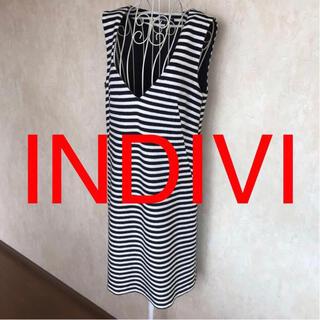 インディヴィ(INDIVI)の★INDIVI/インディヴィ★極美品★ボーダージャンパースカート38(M.9号)(その他)