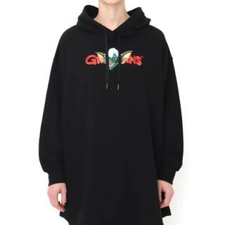 グラニフ(Design Tshirts Store graniph)のグラニフ GREMLINS グレムリン ギズモ ストライプ パーカー ブラック(パーカー)