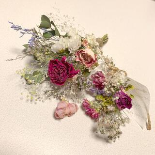 ドライフラワー 春色スワッグ 14 ブーケ 花束 インテリア(ドライフラワー)
